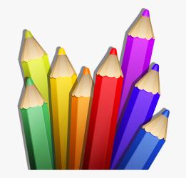 clipart pencil coloured pencils