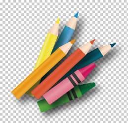 pencil horizontal clipart paintbrush cartoon drawing