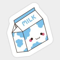 milk clipart box