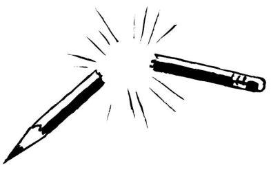 broken pencil clipart
