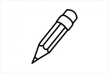 Vertical Pencil Clipart Black And White 1