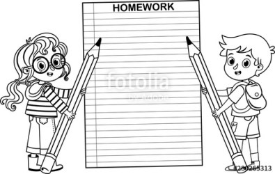 homework pencil clipart children