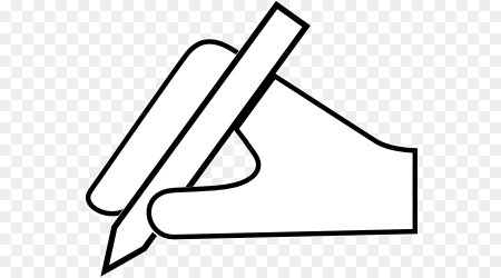 writing clipart hand pencil clip pen transparent triangle cliparts christmas clipground library pngio