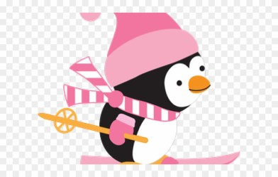 penguin clipart snowboard ski snow clip penguins playing dumielauxepices pinclipart