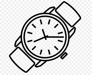 clipart cartoon clip clock wrist studying strap font transparent ree lockdown
