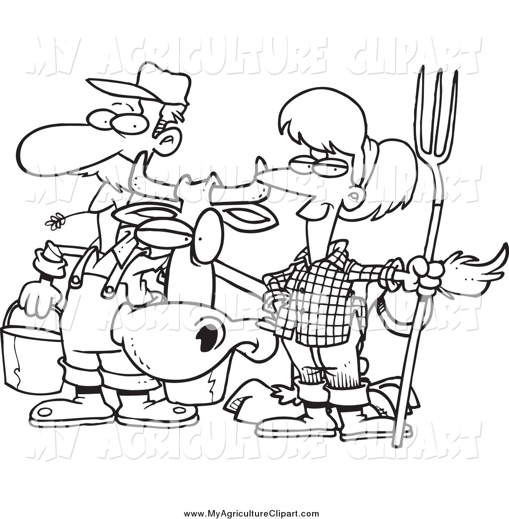 Agriculture clipart black and white 7 » Clipart Station