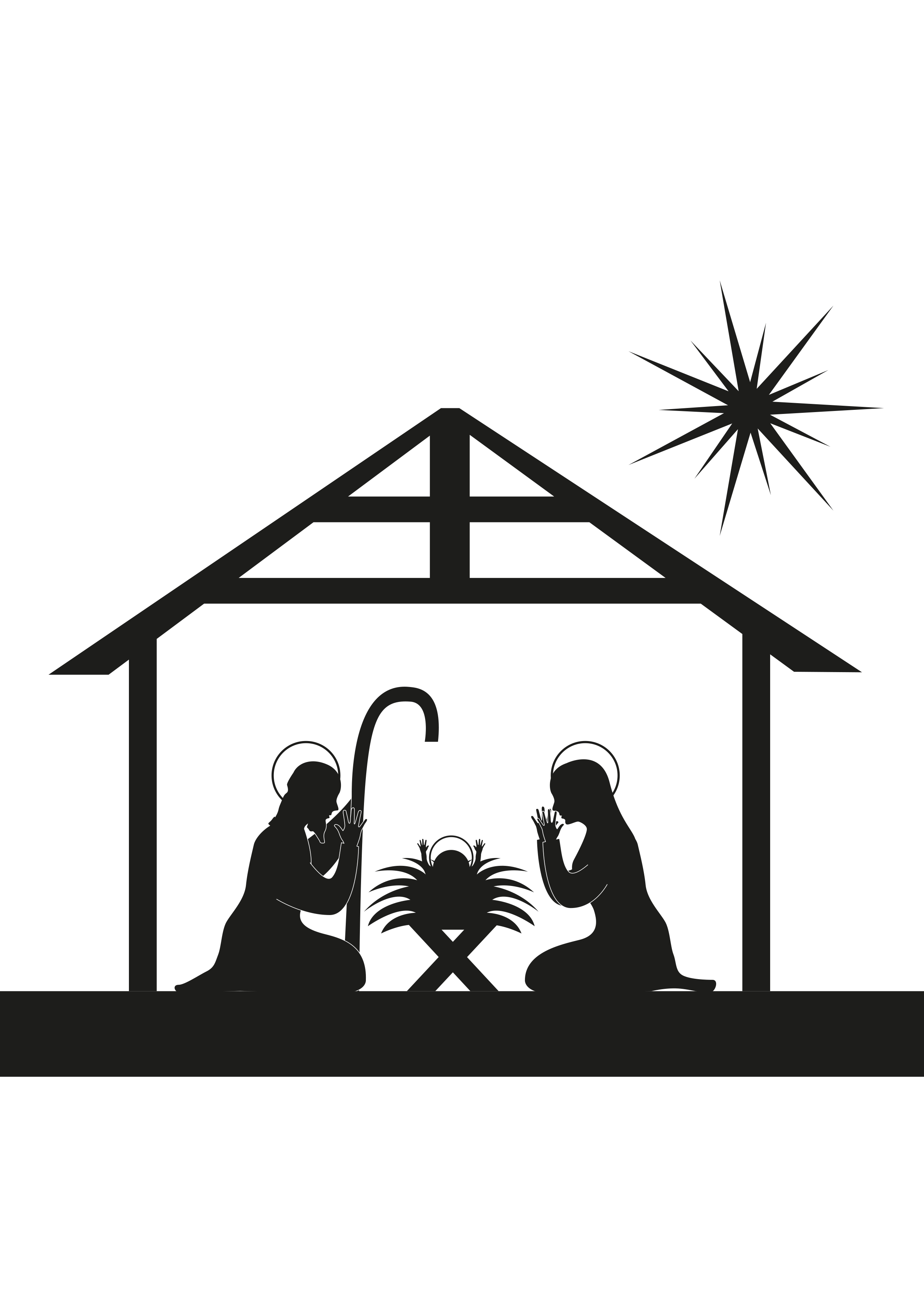 Away In A Manger Clipart 6 Clipart Station