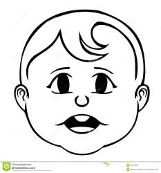 face clipart faces drawing smiling vector outline boy children eyes smile getdrawings