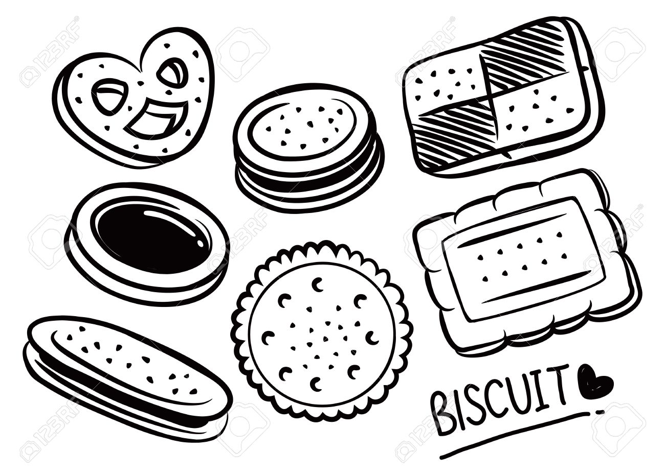 Biscuit Clipart Black And White 1 Clipart Station