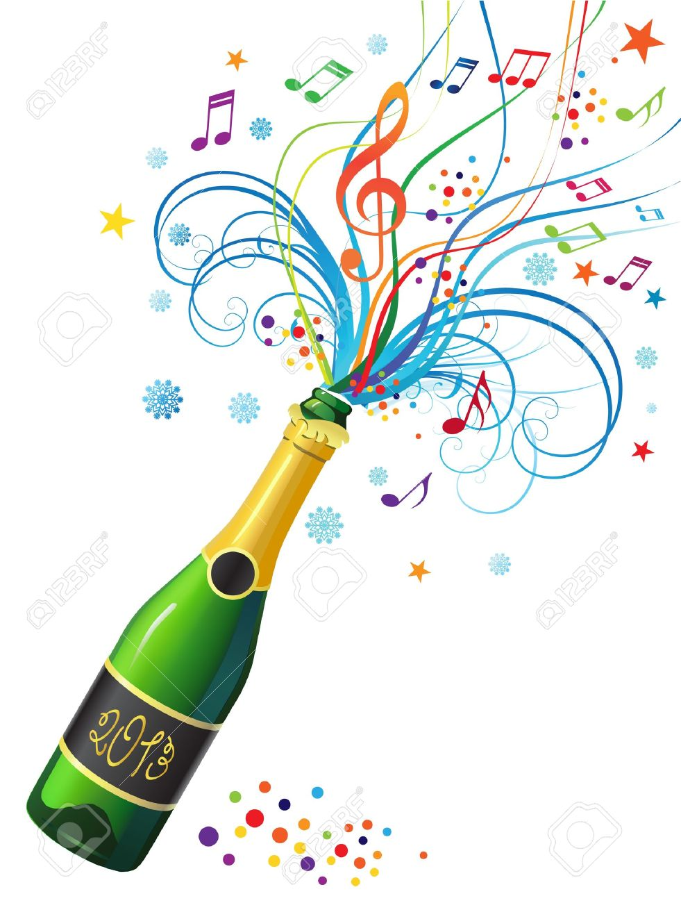 hight resolution of bouteille de champagne clipart 2