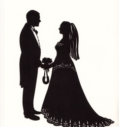 bride and groom silhouette clipart black and white 12 [ 2552 x 3496 Pixel ]