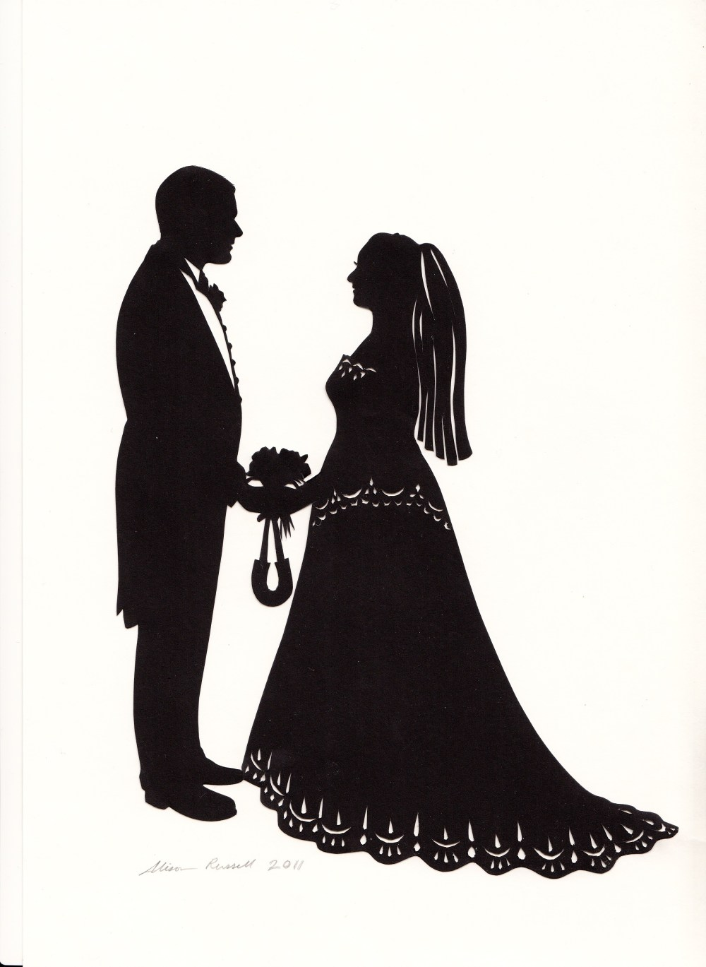 medium resolution of bride and groom silhouette clipart black and white 12