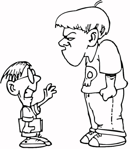 Bullying clipart black and white 5 » Clipart Station