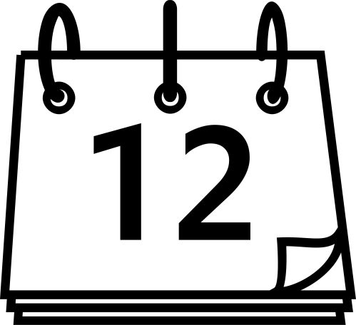 small resolution of calendar clipart black and white 3