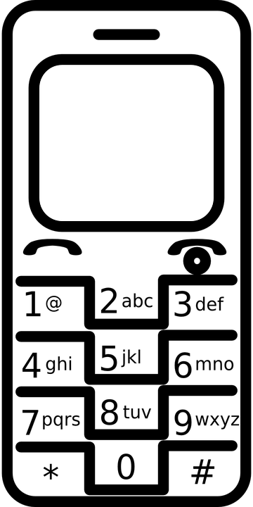 Cell phone clipart black and white 8 » Clipart Station