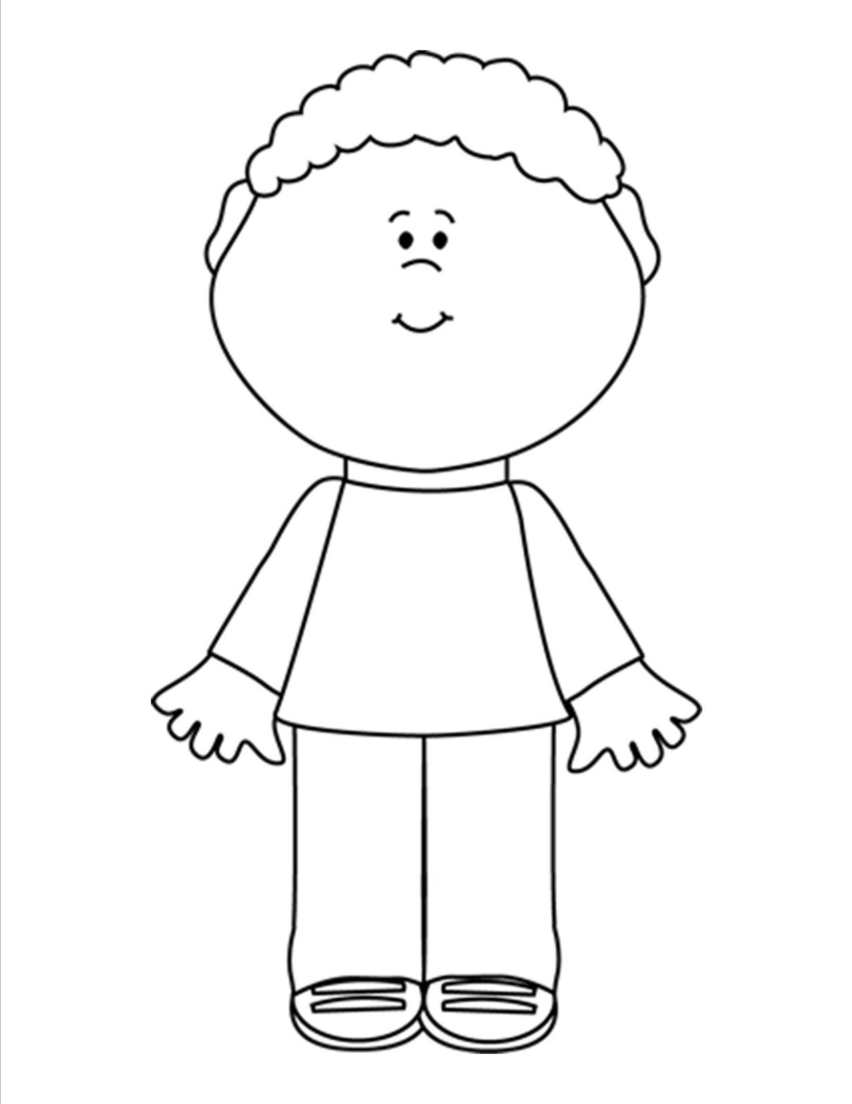 Child Clipart Black And White 7 Clipart Station