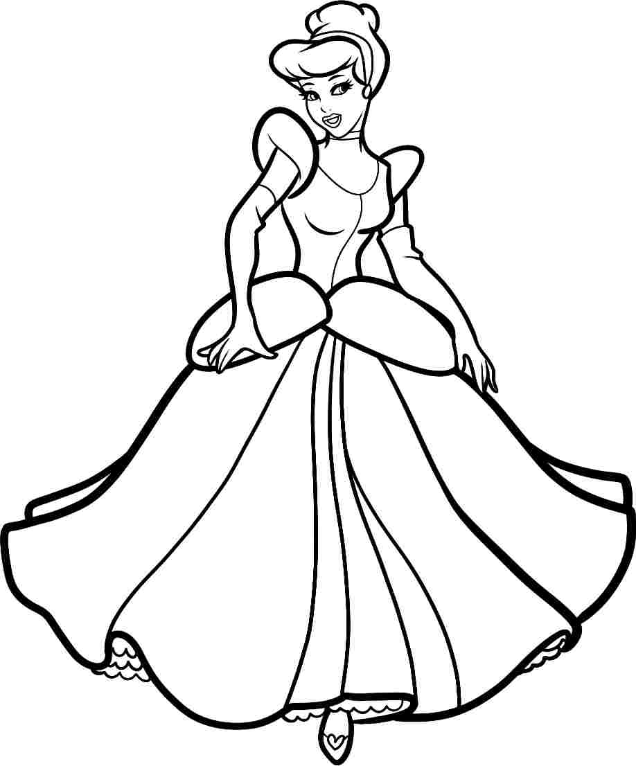 hight resolution of cinderella clipart black and white 10
