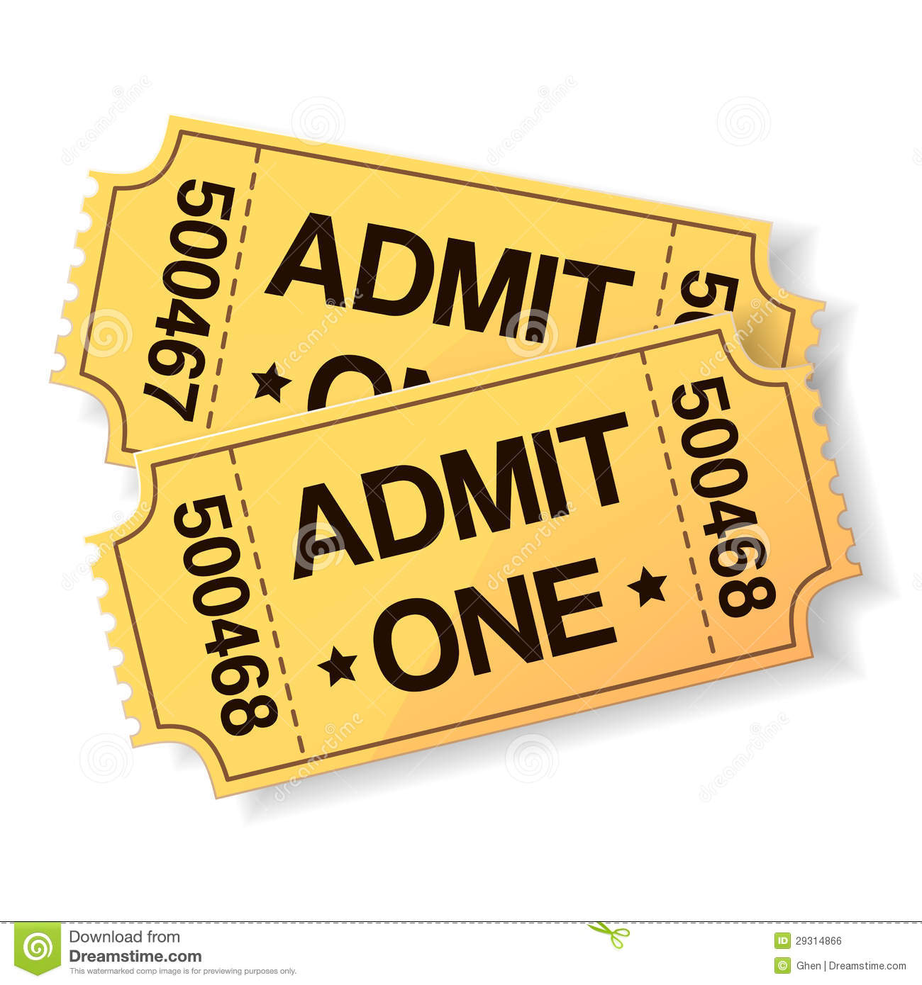 hight resolution of cinema ticket clipart 6