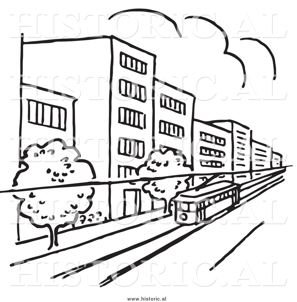 City Street Clipart Black And White 9 Clipart Station