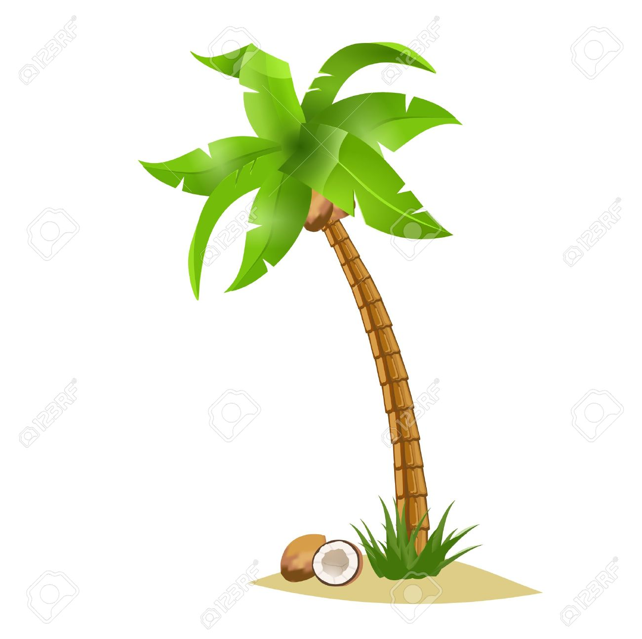 hight resolution of coconut tree clipart 2
