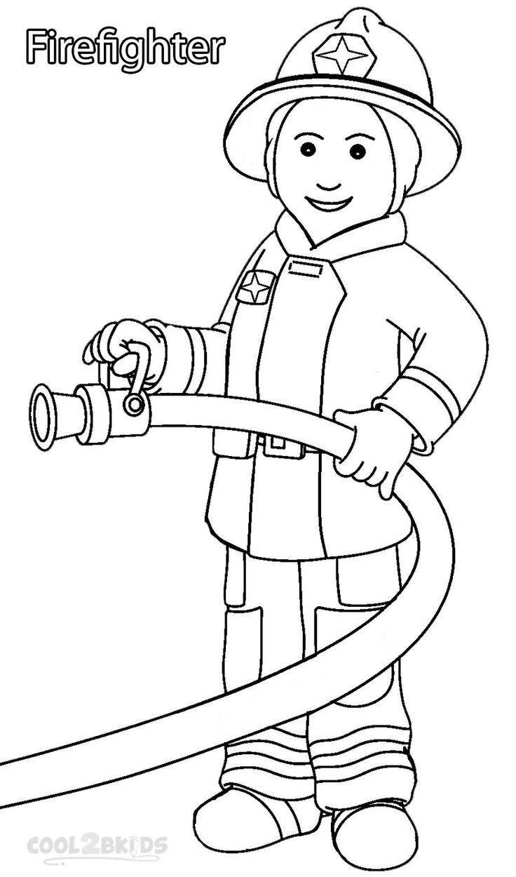 hight resolution of community helpers clipart black and white 9