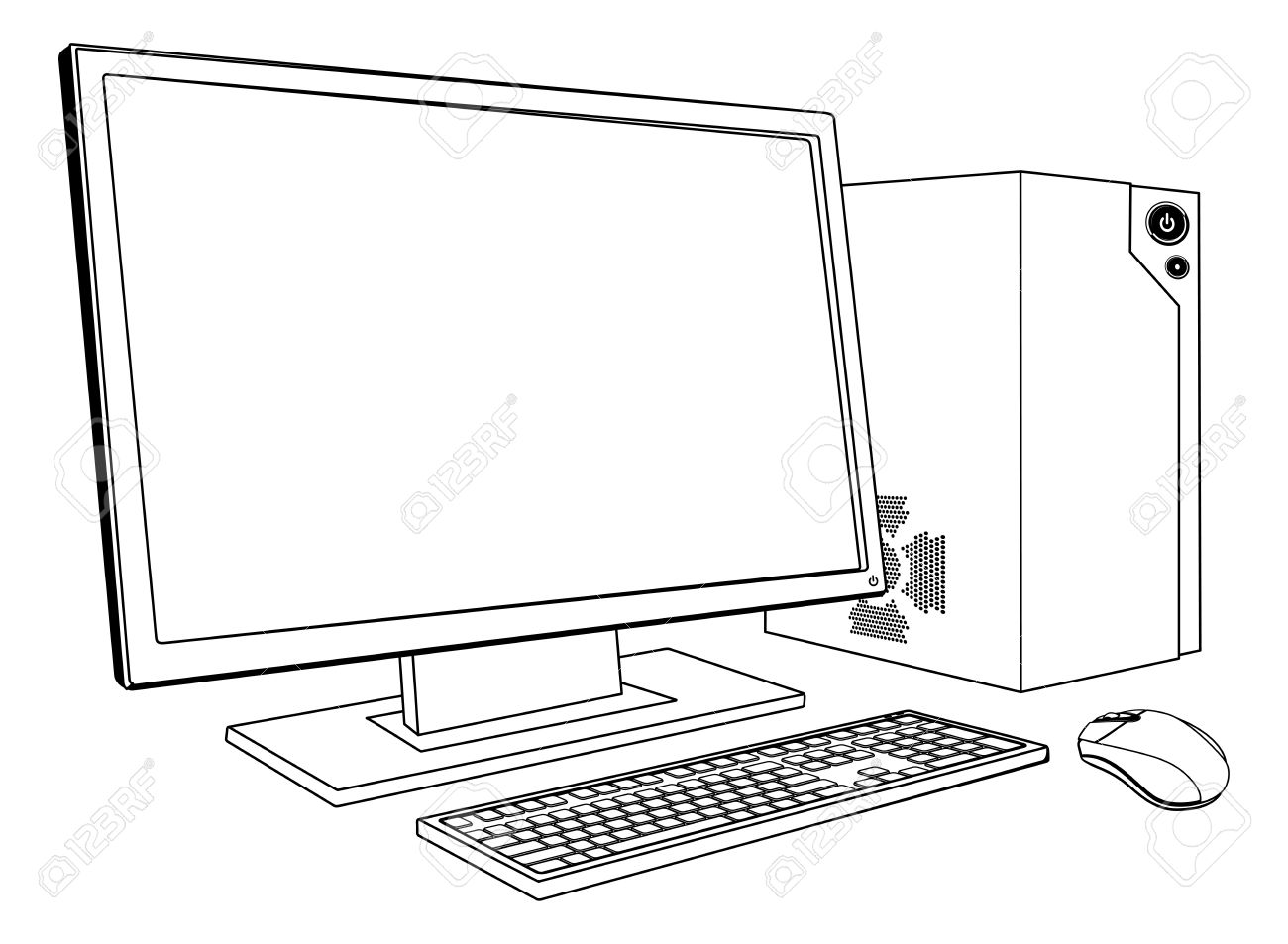 Computer Clipart Black And White 3 Clipart Station