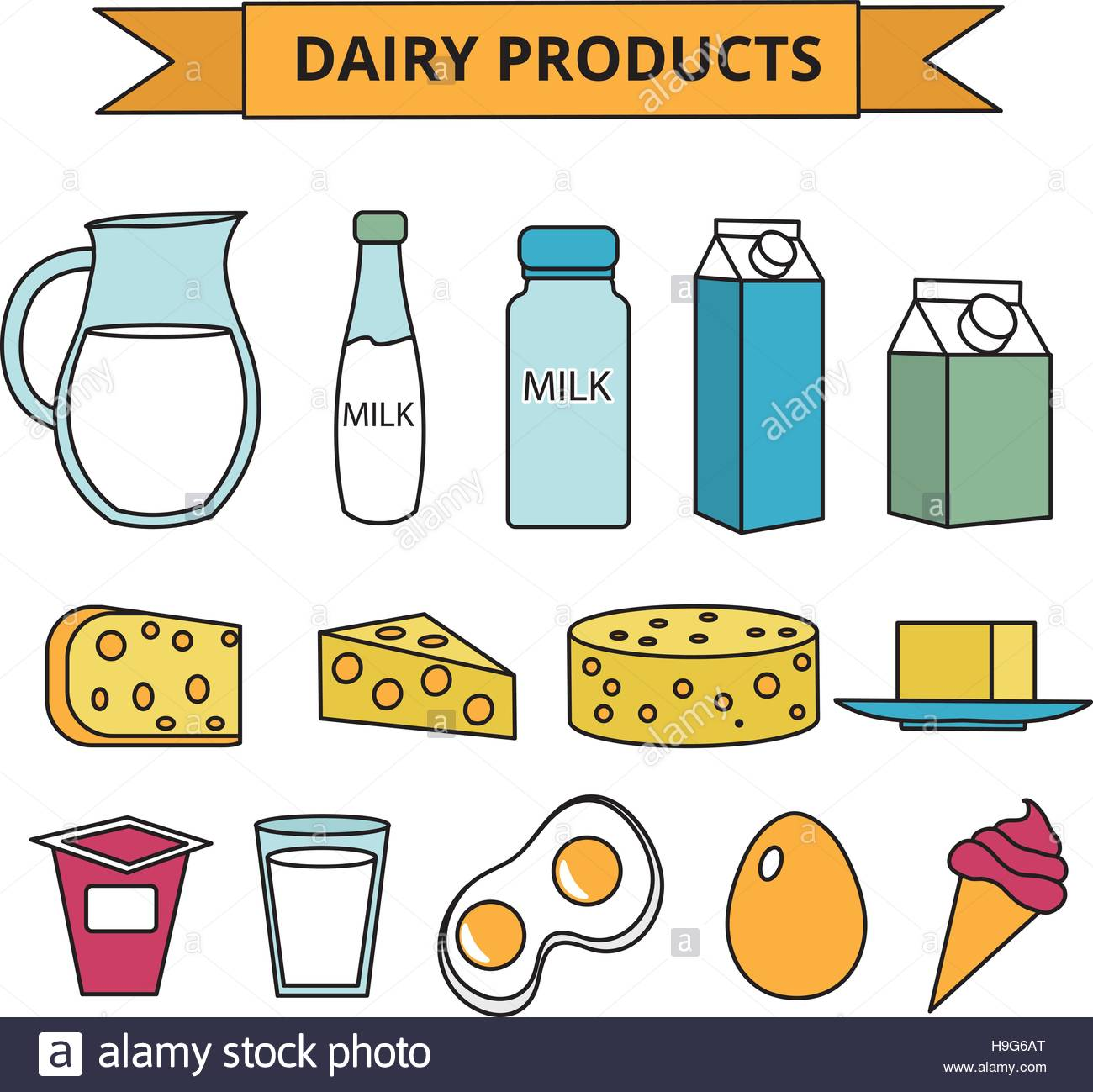 hight resolution of dairy products clipart 10