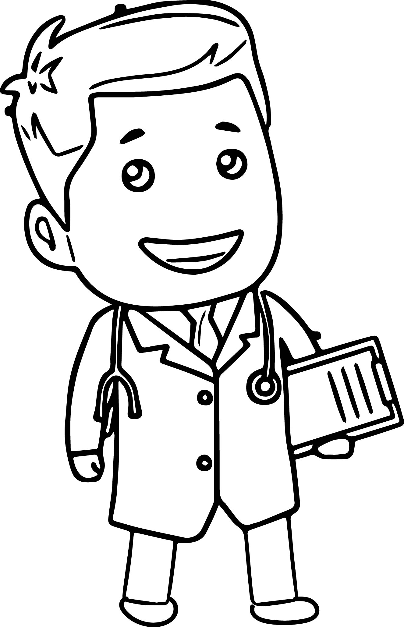 Doctor Black And White Clipart Clipart Station