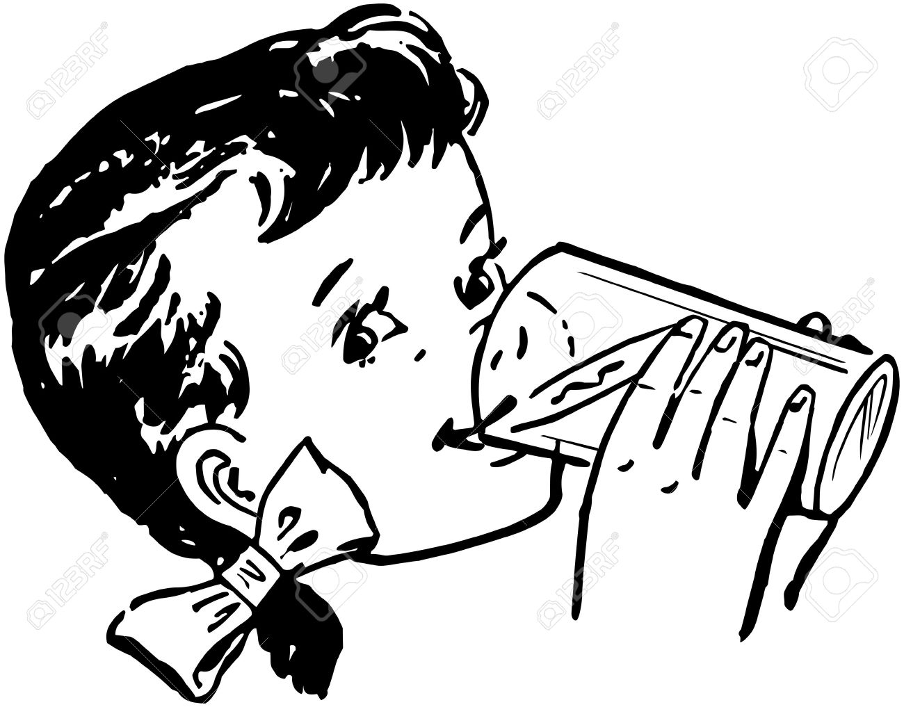 Drinking Clipart Black And White 6 Clipart Station
