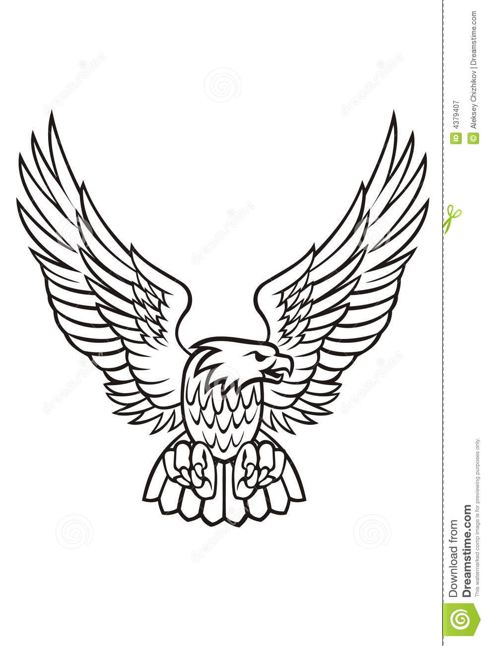hight resolution of eagle clipart black and white 4