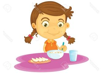 breakfast eating eat clipart child healthy food clip vector clipartmag clipartstation graphic cliparts background getdrawings