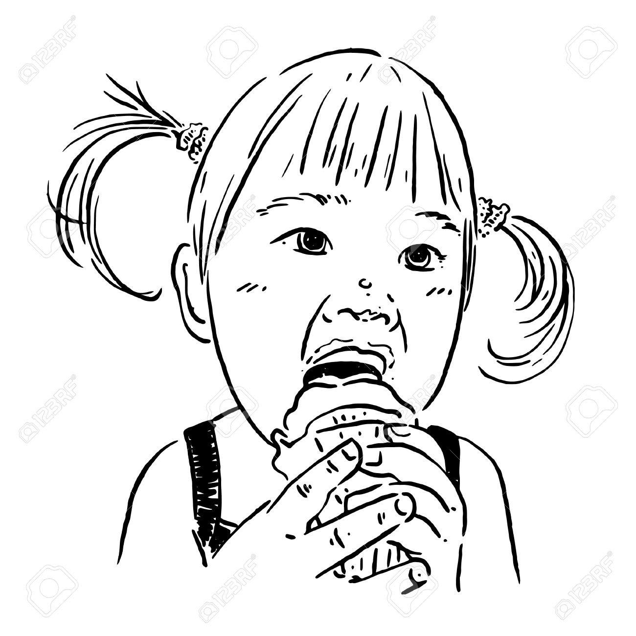 Eating Clipart Black And White 3 Clipart Station