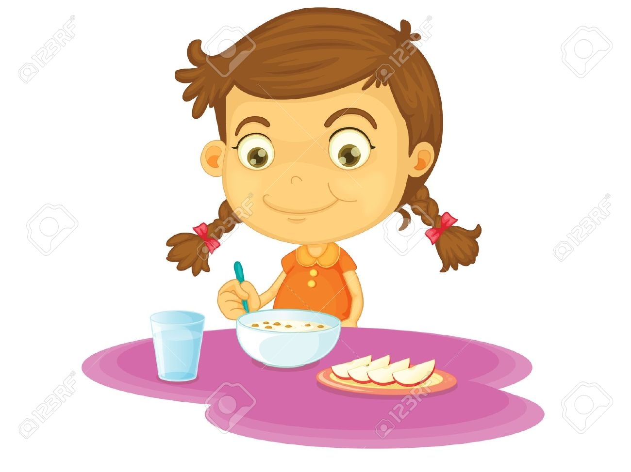 hight resolution of eating healthy breakfast clipart 11