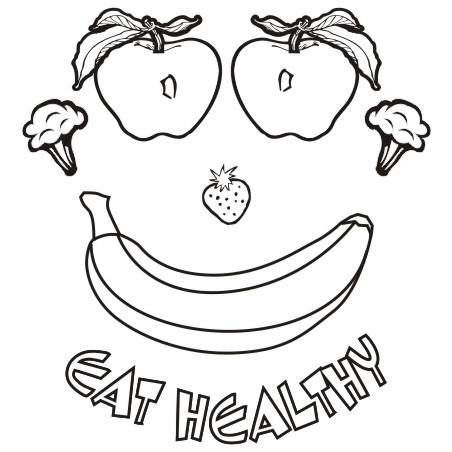 Eating healthy food clipart black and white 4 » Clipart