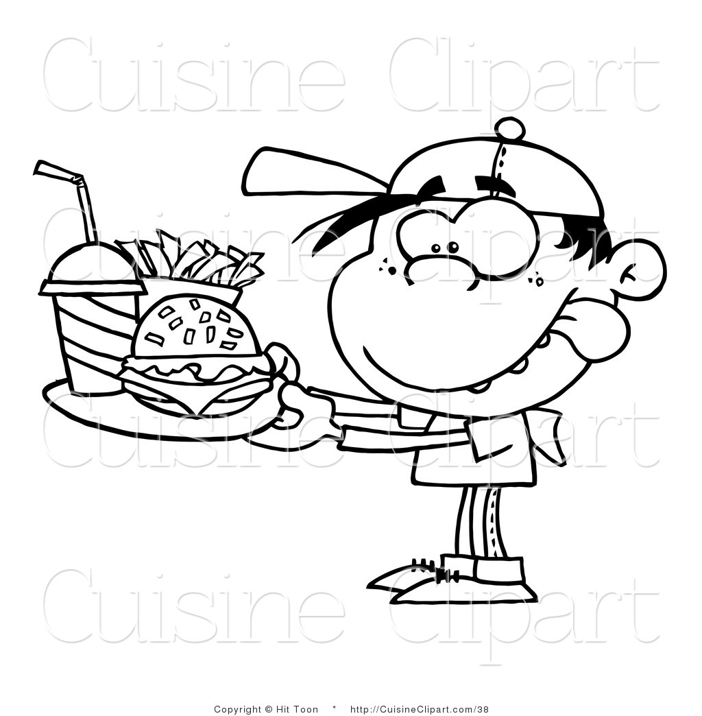 Eating Junk Food Clipart Black And White 4 Clipart Station
