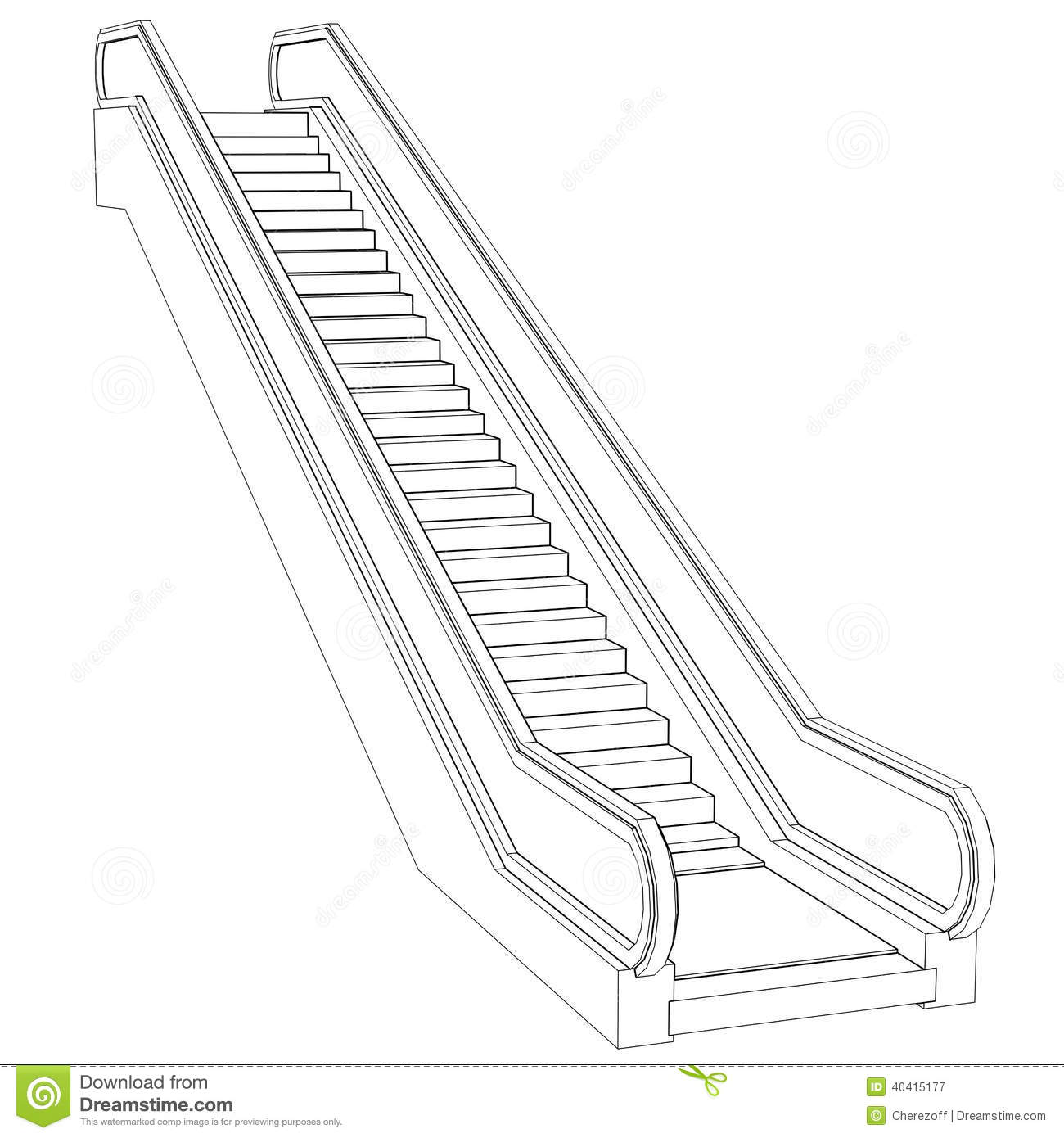 Escalator clipart black and white 9 » Clipart Station