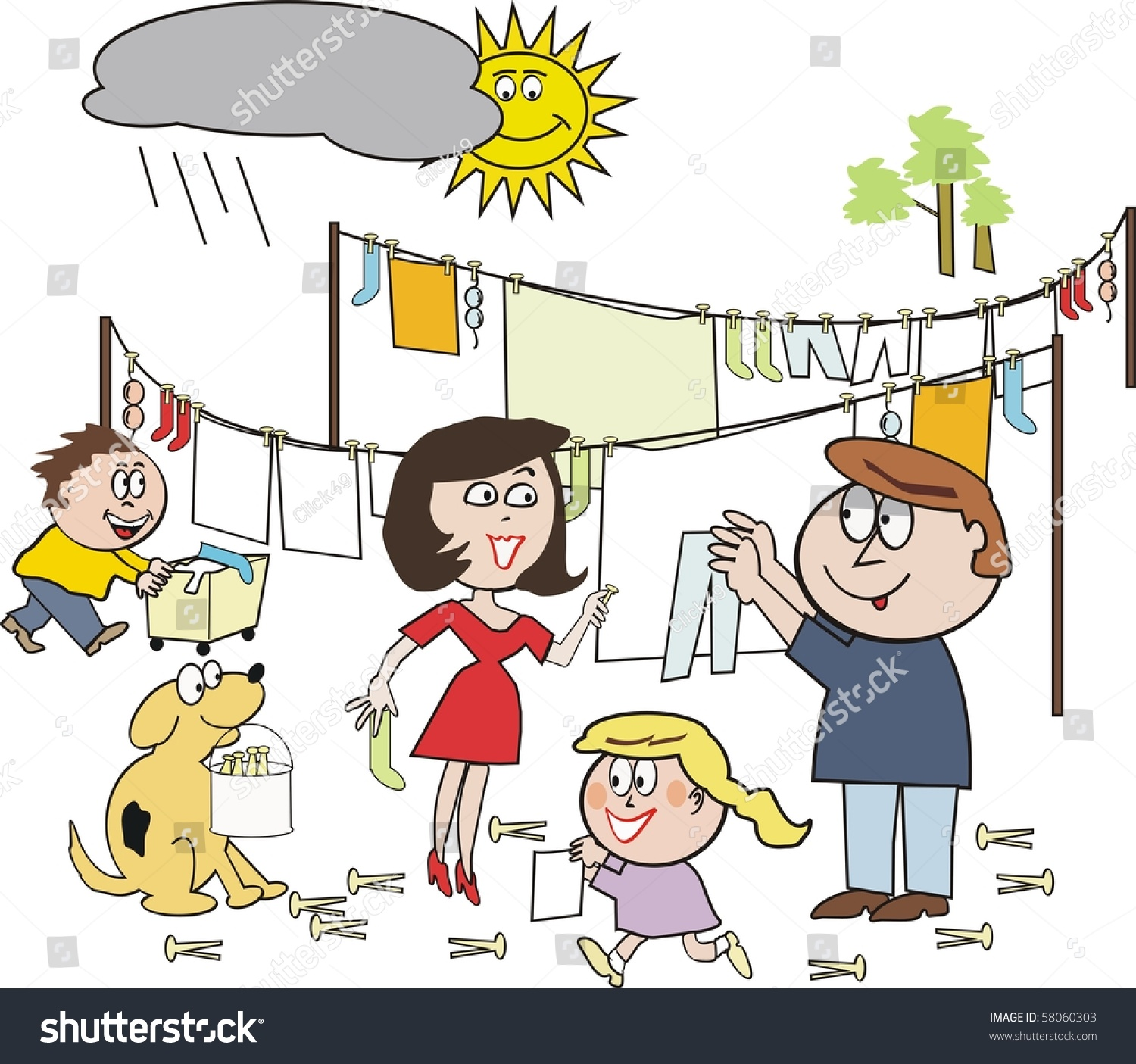 Family Working Together Clipart 6 Clipart Station