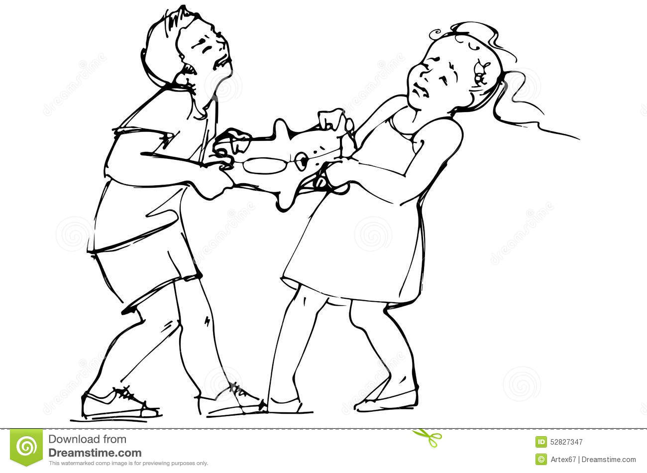 Fighting Clipart Black And White 1