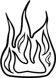 fire flame clipart clip flames outline cliparts coloring colouring pages clipartmag station flamme library result symbols title