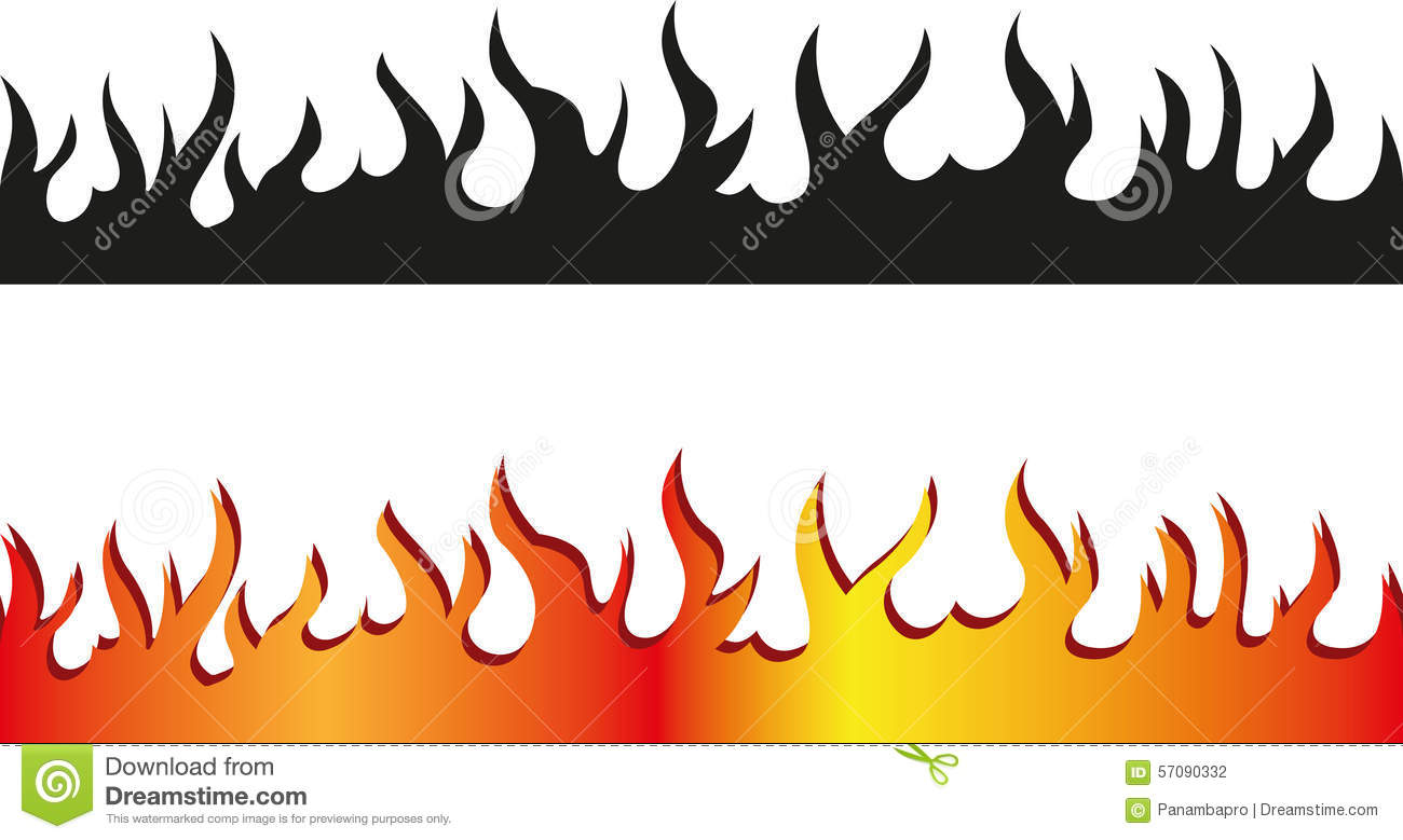 hight resolution of fire clipart border 10