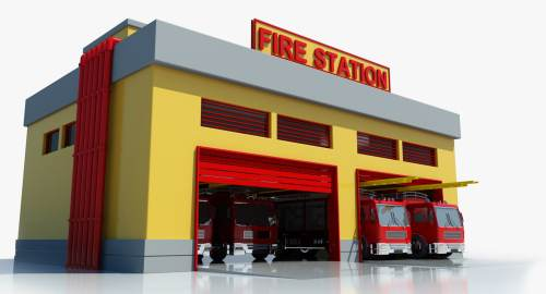 small resolution of fire station building clipart 9