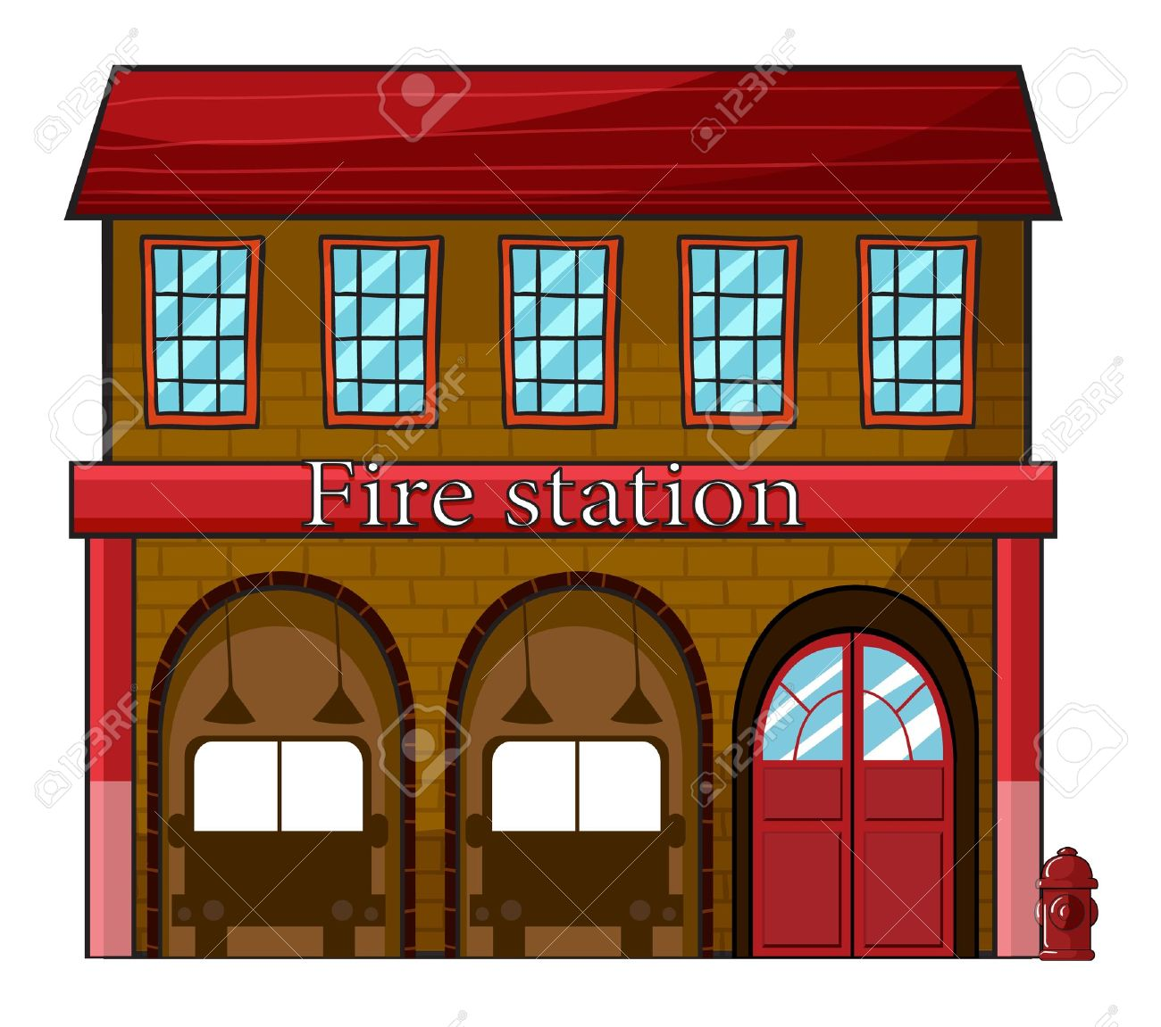 hight resolution of fire station clipart 8