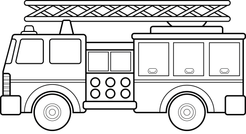 small resolution of fire station clipart black and white