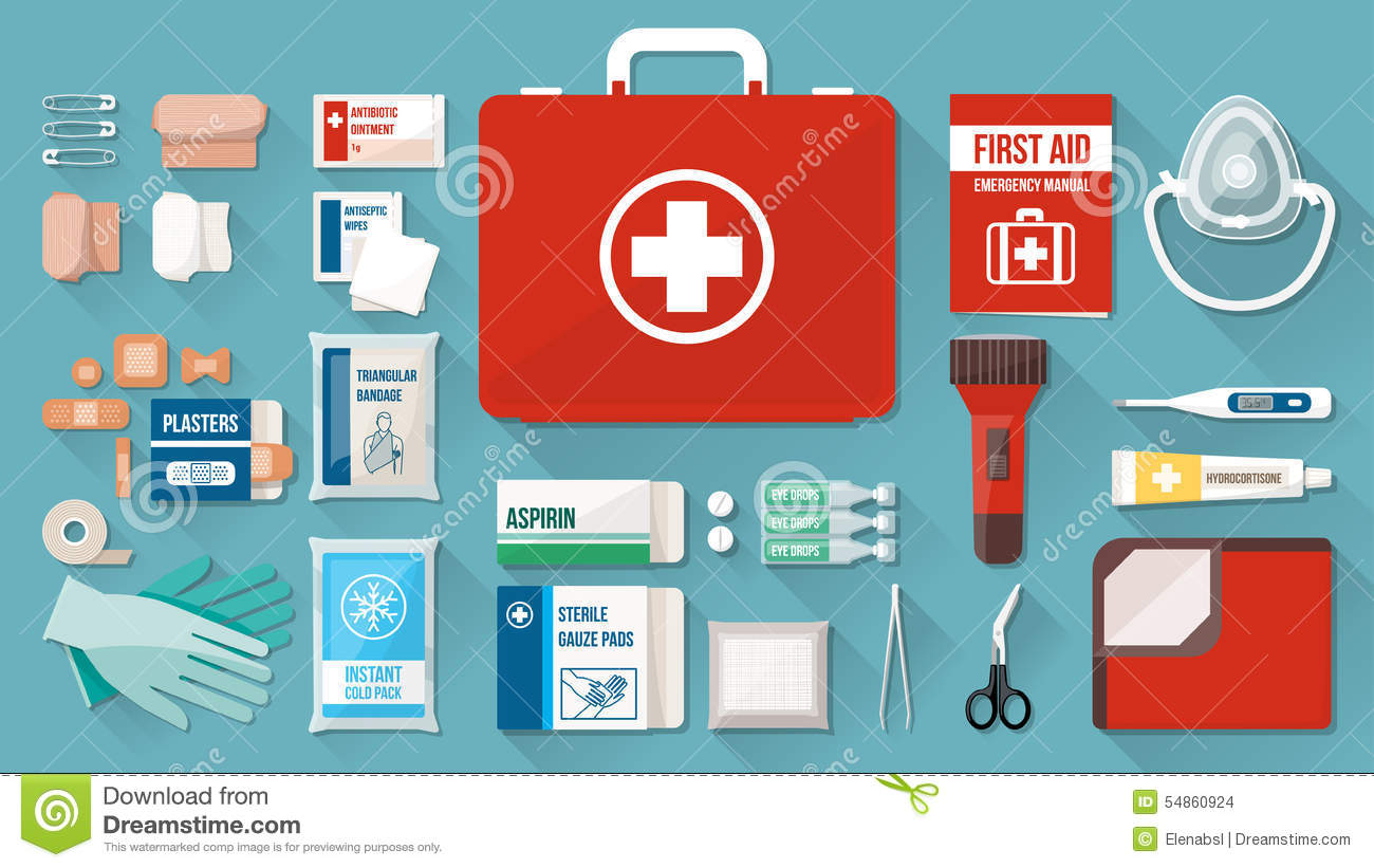 hight resolution of first aid kit contents clipart 3