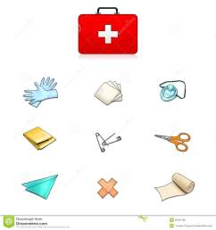 first aid kit contents clipart 6 [ 1300 x 1390 Pixel ]