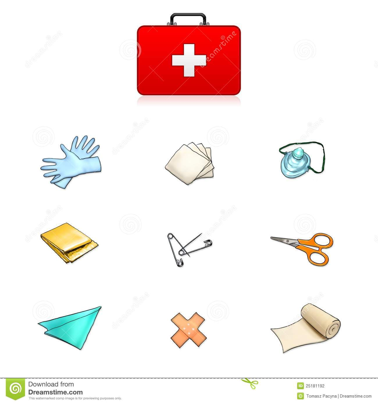 hight resolution of first aid kit contents clipart 6