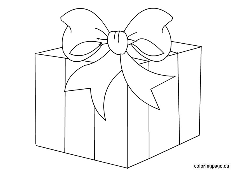 Gift box clipart black and white 8 » Clipart Station