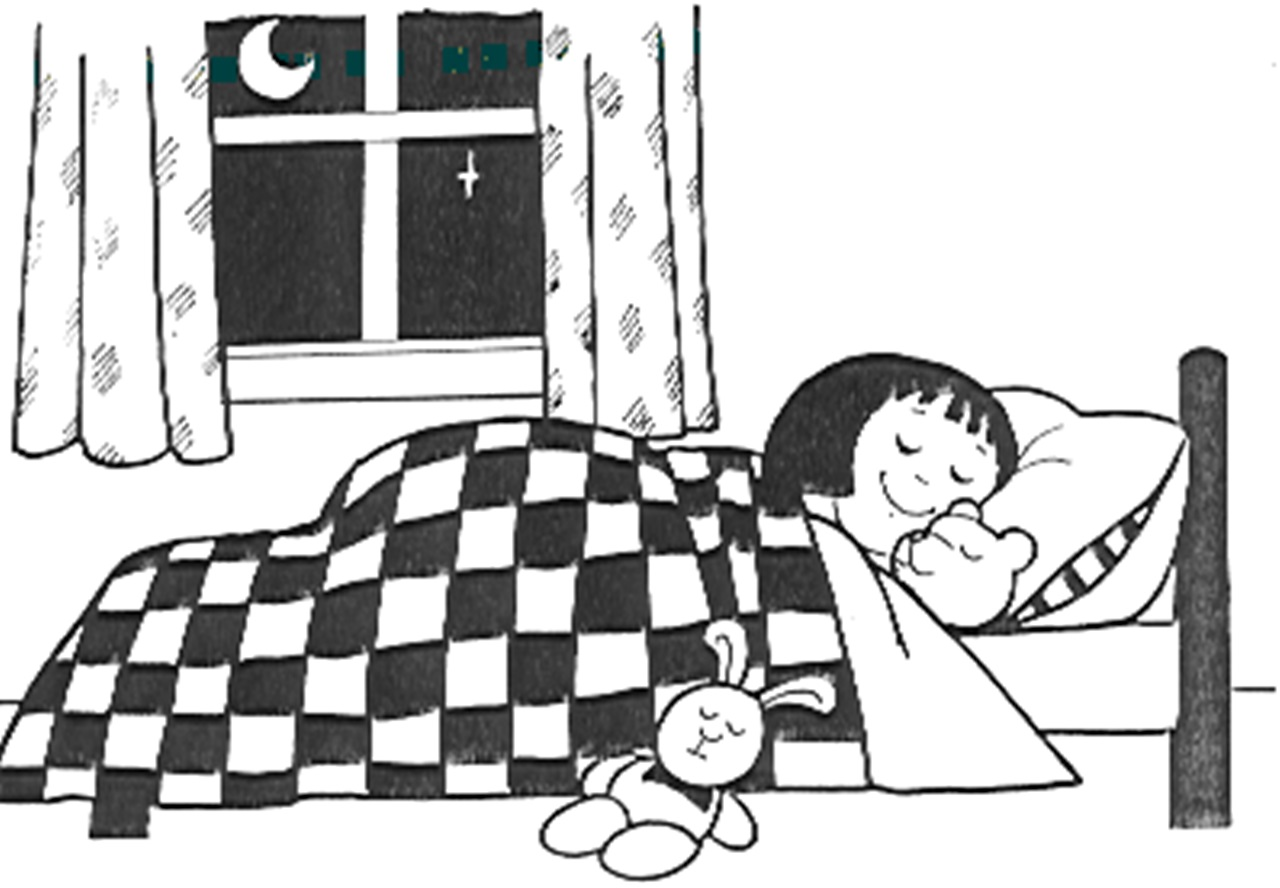 hight resolution of go to bed clipart 2