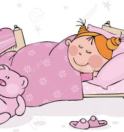 go to bed clipart girl 10 [ 1300 x 910 Pixel ]