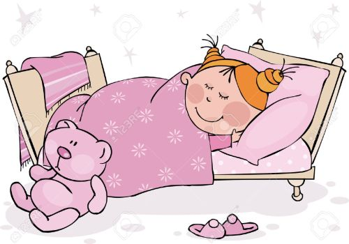 small resolution of go to bed clipart girl 10